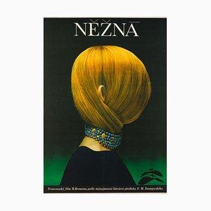 Affiche de Film Une Femme Douce Czech par Olga Poláčková-Vyleťalová, 1970s