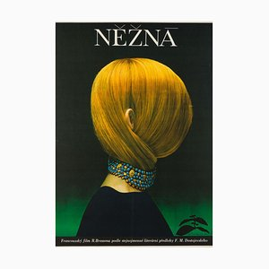 Une Femme Douce Czech Movie Poster by Olga Poláčková-Vyleťalová, 1970s