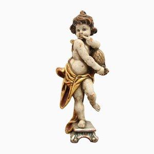 19th Wooden Honey Licker Statue