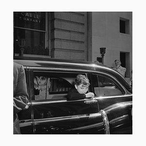 Audrey Hepburn Sabrina Silver Gelatin Resin Print Framed In White by Hulton Archive