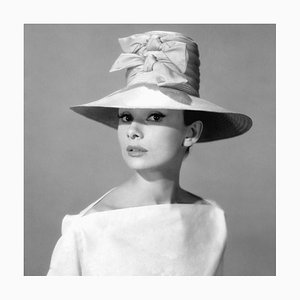 Audrey Hepburn Funny Face Archival Pigment Print Framed In Black by Cineclassico