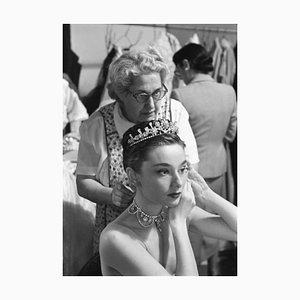 Audrey Hepburn Princess Audrey Archival Pigment Print Framed In White by Phillip Harrington