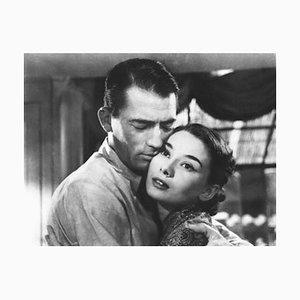 Audrey Hepburn Roman Holiday archival Pigmentdruck in schwarz gerahmt von Alamy Archiv