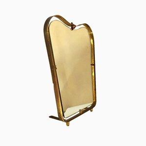 Specchio in ottone e vetro di Gio Ponti, anni '40