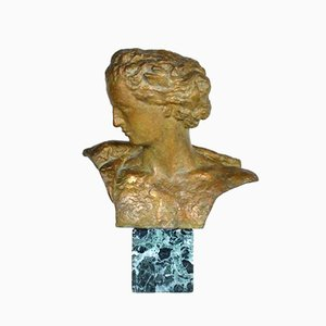 E. Morlaix, Bronze Bust of a Woman, 1920s