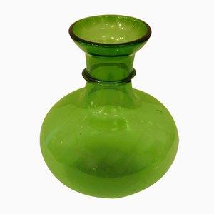 Green Glass Vase, 1940s