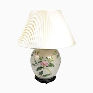 Glass Table Lamp with Oleander Ornament