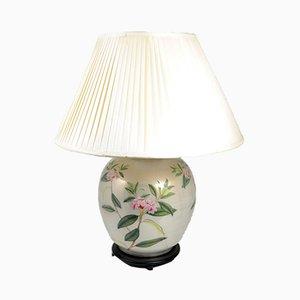 Lampada da tavolo in vetro con decorazione a forma di oleandro