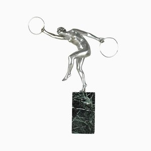 Dancer in Hoops, 1930s, Bronze and Silver