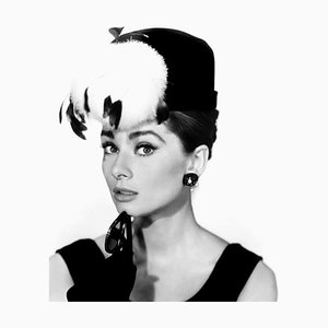 Audrey Hepburn Breakfast At Tiffany''s'' Archival Pigment Print Framed In Black by Everett Collection
