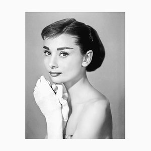 Audrey Hepburn In Givenchy Archival Pigment Print Framed In White by Everett Collection