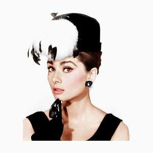 Audrey Hepburn Breakfast At Tiffany''s Framed In Black by Everett Collection