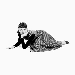 Audrey Hepburn In Sabrina Archival Pigment Print Framed In White by Everett Collection