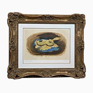 Georges Braque, Pommes et Feuilles, 1958, Color Lithograph