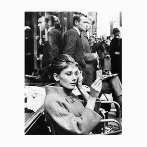 Make Up & Breakfast At Tiffany''s Archival Pigment Print Framed In White by Everett Collection