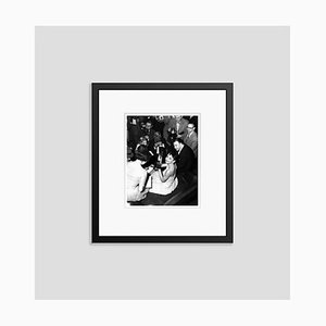 Audrey Hepburn Celebrates Winning An Academy Award Archival Pigment Print Framed In Black by Everett Collection