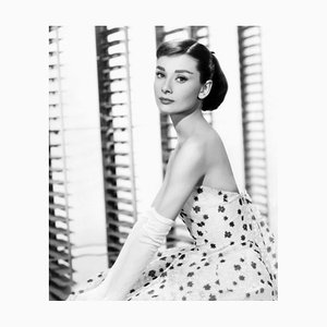 Audrey Funny Face Archival Pigment Print Framed In White by Everett Collection