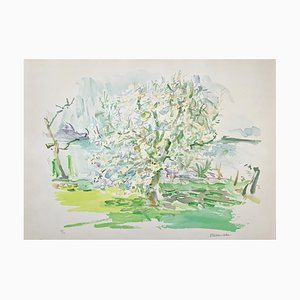 Oskar Kokoschka, Blooming Apple Tree, Lithograph, 1974