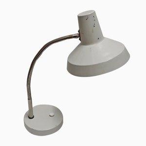 Anpassbare Tischlampe mit Sockel aus hellgrau lackiertem Metall, 1970er