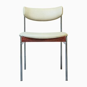 White Dining Chairs from Thereca, 1960s, Set of 4