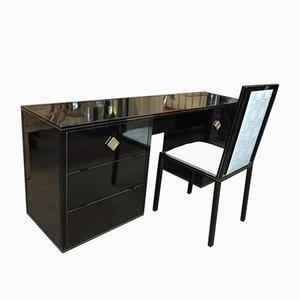 Lackierter Metall Schreibtisch & Stuhl von Pierre Vandel, 1970er, 2er Set