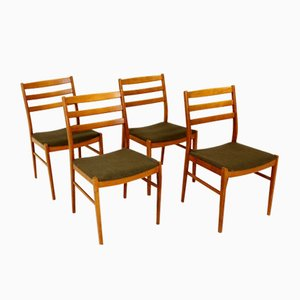 Swedish Beech Dining Chairs, 1960s, Set of 4