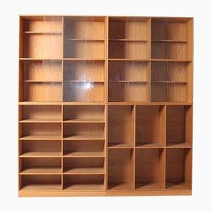 Oak Bookcases by Mogens Koch for Rud. Rasmussen, 1950s, Set of 4