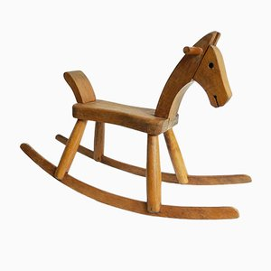 Vintage Wooden Children's Rocking Horse by Kay Bojesen