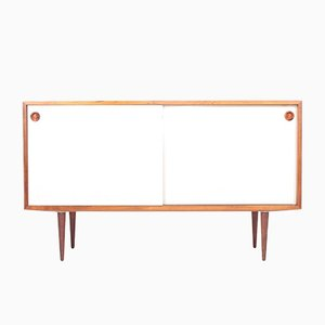 Rosewood Sideboard with White Panels by Poul Hundevad for Hundevad & Co., 1960s