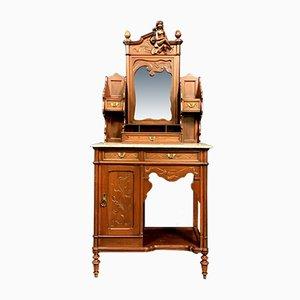 Antique Art Nouveau Mahogany Cabinet