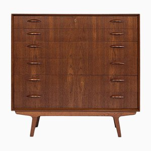 Mid-Century Danish Teak Chest of 6-Drawers by Johannes Sorth for Nexø, 1960s
