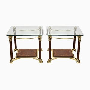 Hollywood Regency Side Tables, 1970s, Set of 2