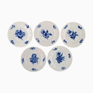 Royal Copenhagen Porcelain Cake Plates, Set of 5