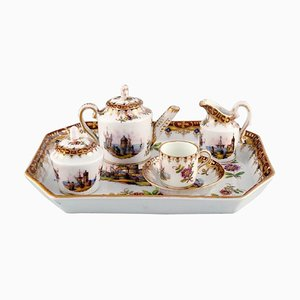 Head-to-Head Tea Set in Hand Painted Porcelain, Set of 6