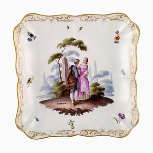 Meissen Dish or Bowl in Hand Painted Porcelain, 19th Century