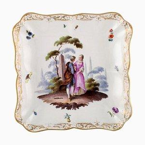 Meissen Schale oder Schale aus handbemaltem Porzellan, 19. Jahrhundert
