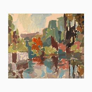 Hans-Erik Eriksson, Modernist Landscape, Oil on Canvas, 1960s