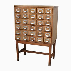 Vintage Library Drawer Cabinet