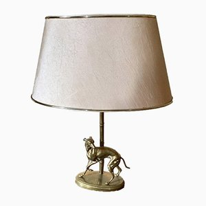 Vintage Greyhound Golden Bronze Lamp