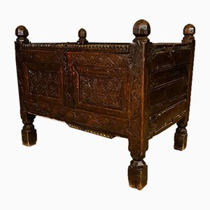 Antique Chip Carved Coffer