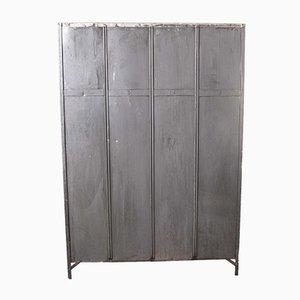 French Metal 4-Door Locker from Gantoise, 1930s