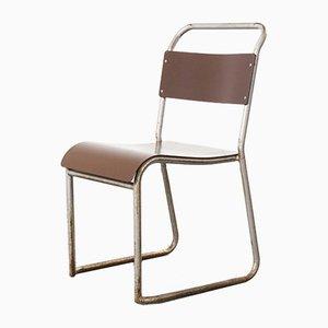 Vintage Stacking Bakelite Seat Dining Chair, 1940s
