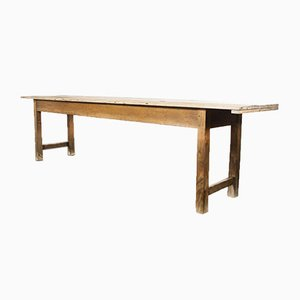 Large French Long Rectangular Dining Table, 1950s