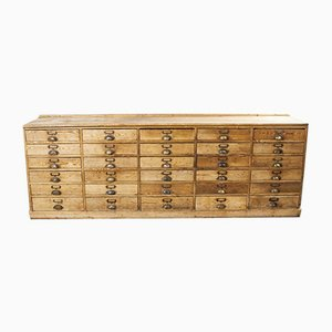Large French Pitch Pine Hardware Shop Counter, 1940s
