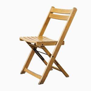 German Beech Folding Dining Chair, 1950s