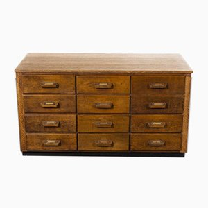 Oak Apothecary Multi Drawer Chest of Drawers, 1950s