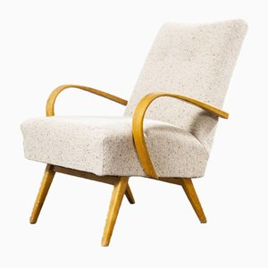 Boucle Wool Upholstered Armchairs by Jindrich Halabala, 1950s, Set of 2