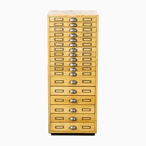 French Small Multi Drawer Jewellers Cabinet with Eighteen Drawers, 1950s