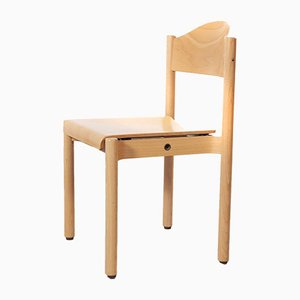Stacking Beech Dining Chair from Hiller, 1970s