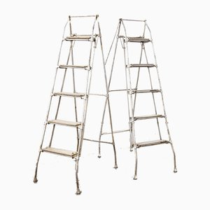 French Folding Engineers Ladders, 1960s, Set of 2